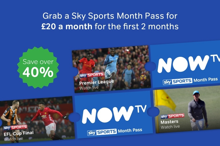 Get a Sky Sports Month Pass for just £20