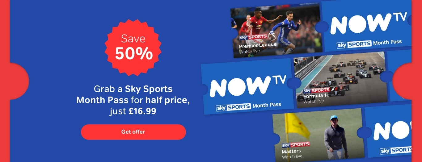 Get a Sky Sports Month Pass for just £16.99
