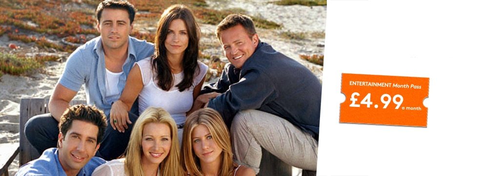 Friends now streaming on NOW TV