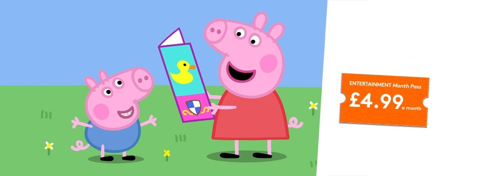 Peppa Pig now streaming on NOW TV