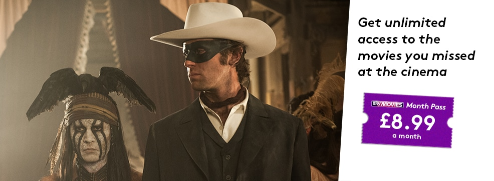 The Lone Ranger now streaming on NOW TV