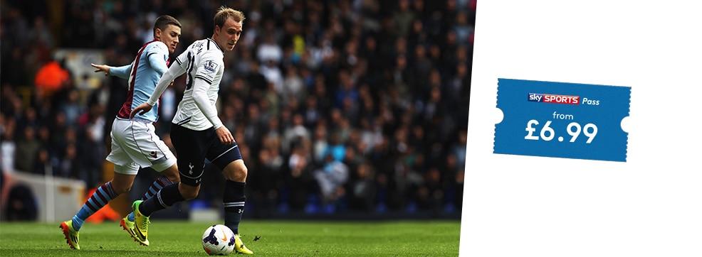 Aston Villa v Tottenham Hotspur streaming live on NOW TV