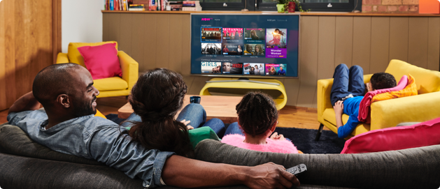 Image of a family enjoying NOW TV