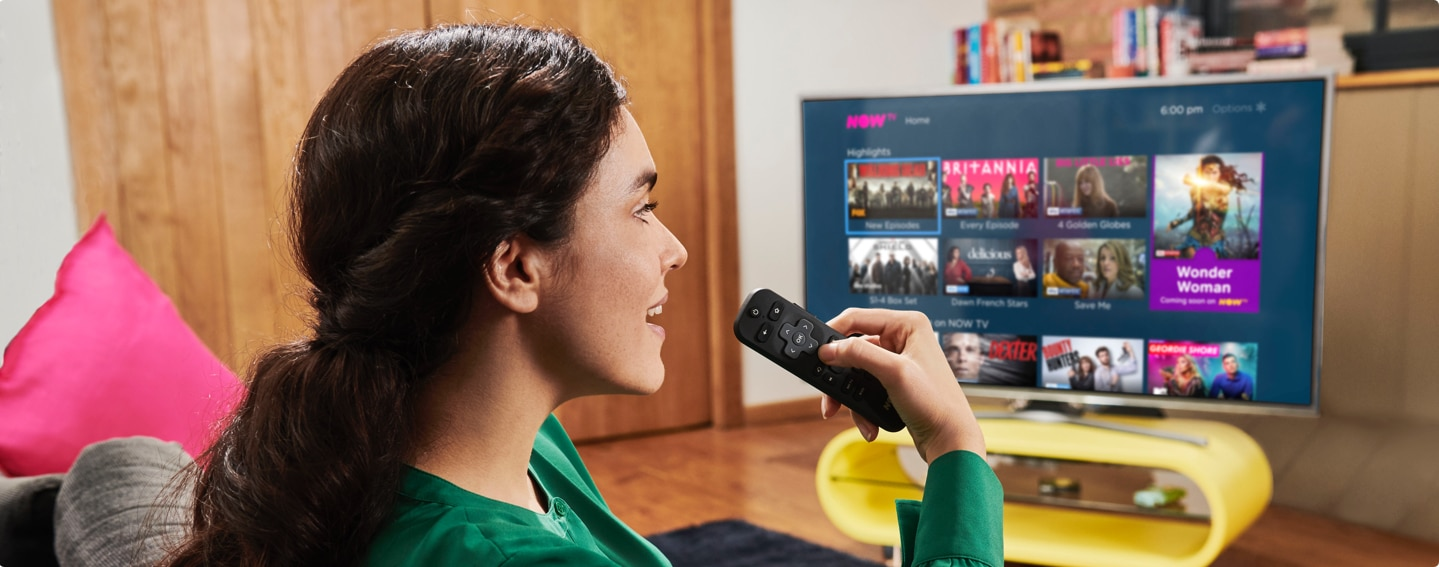Voice search on the NOW TV Smart Stick