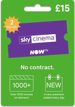 Give the gift of Sky Cinema with a NOW TV gift card