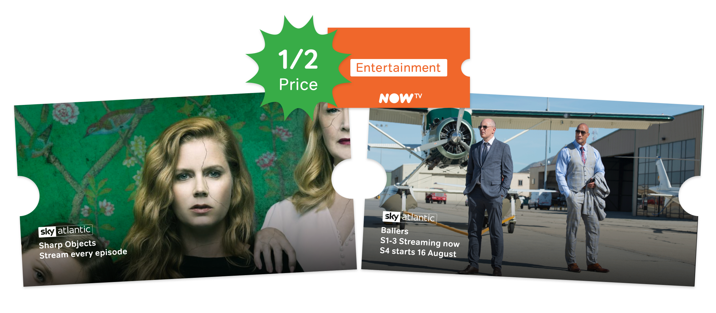 Watch TV shows online with a NOW TV Entertainment Pass.