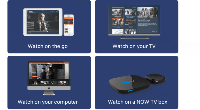 Stream Game of Thrones® on over 60 devices with NOW TV. Click the button below to find out more.