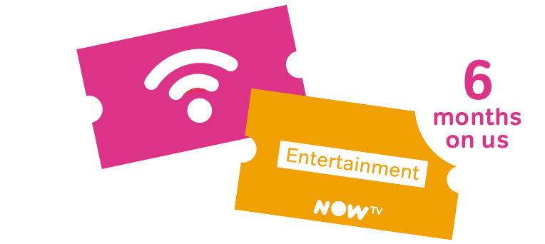 6 month Entertainment and Broadband