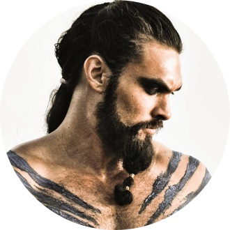 Watch Jason Momoa as khal drago Now TV