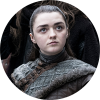 Watch Masie Williams as arya stark on NOWTV